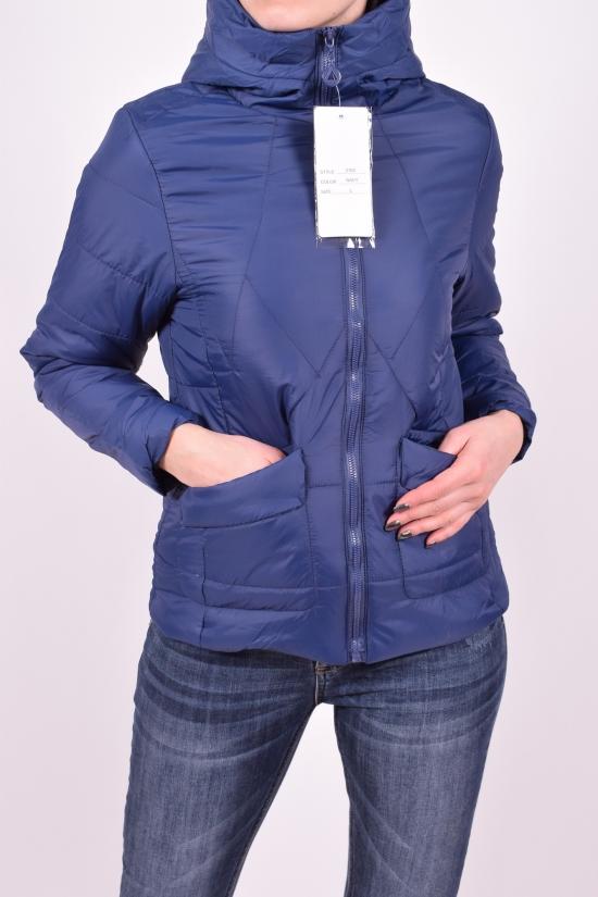 Куртка женская (цв.синий) из плащевки демисезонная Размеры в наличии : 40,42,44,46,48 арт.2185