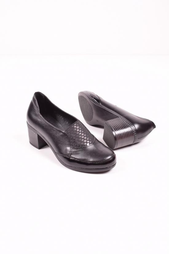 Туфли женские из натуральной кожи (цв.черный) MISTRAL Размеры в наличии : 36,37,38,39,40,41 арт.T756