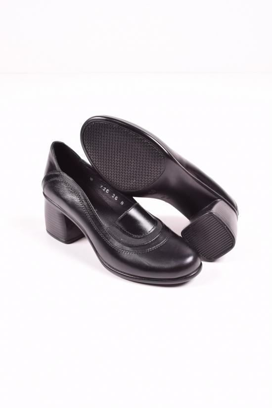 Туфли женские из натуральной кожи (цв.черный) MISTRAL Размеры в наличии : 36,37,38,39,40 арт.T736