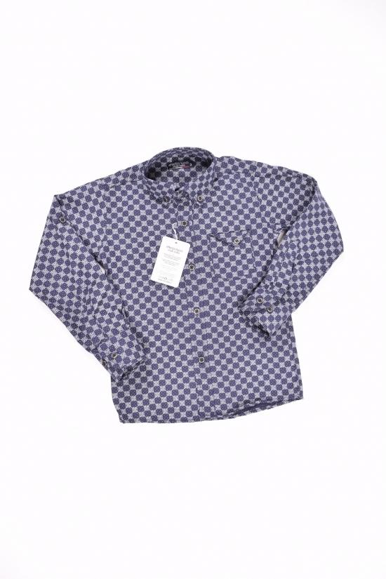 Рубашка для мальчика (цв.т.синий) EFECTO Роста в наличии : 98,104,122 арт.3/7