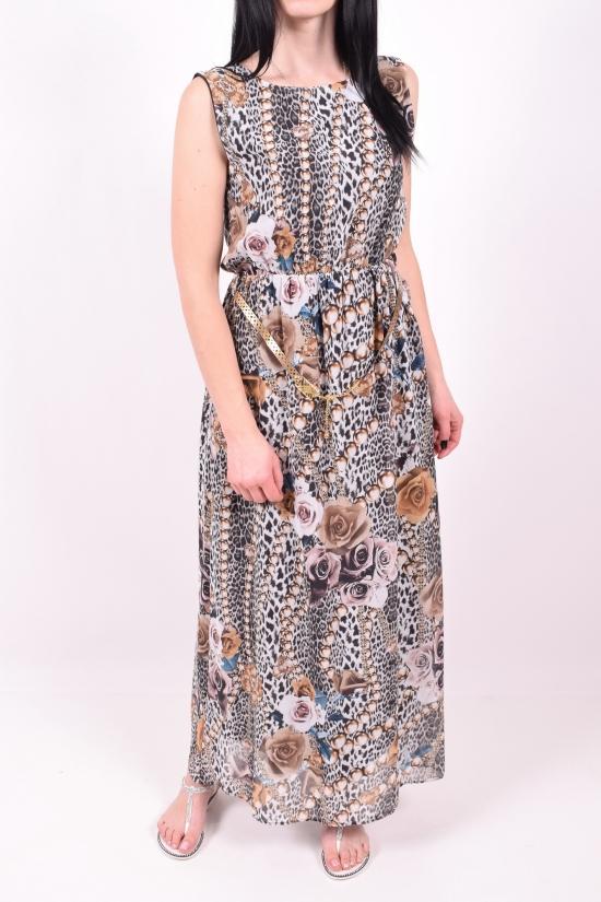 Платье женское шифоновое с поясом Размеры в наличии : 40,42,44,46,48 арт.2103