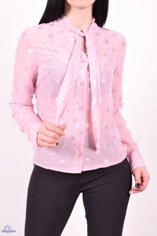 Блузка женская (цв.розовый) шифоновая  KARAKAS Размеры в наличии : 40,42,44,46,48 арт.6227