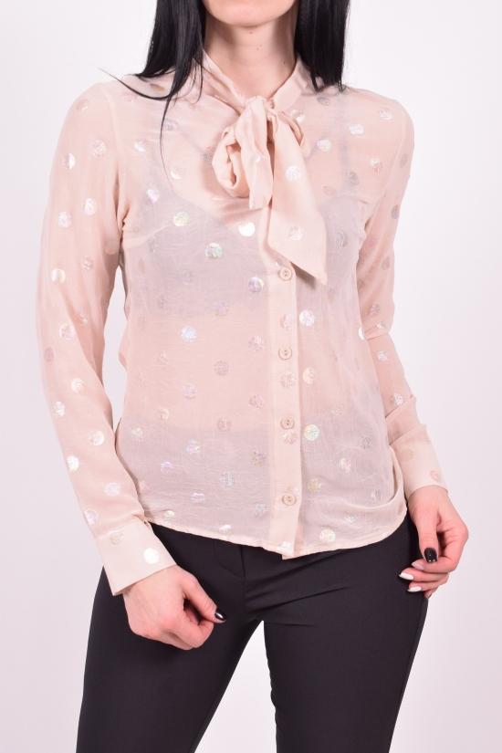 Блузка женская (цв.бежевый) шифоновая  KARAKAS Размеры в наличии : 40,44,46,48 арт.6227