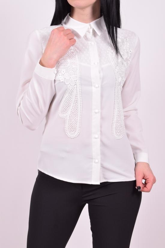 Блузка женская (цв.белый) шифоновая  KARAKAS Размеры в наличии : 42,44,46,48,50 арт.6235