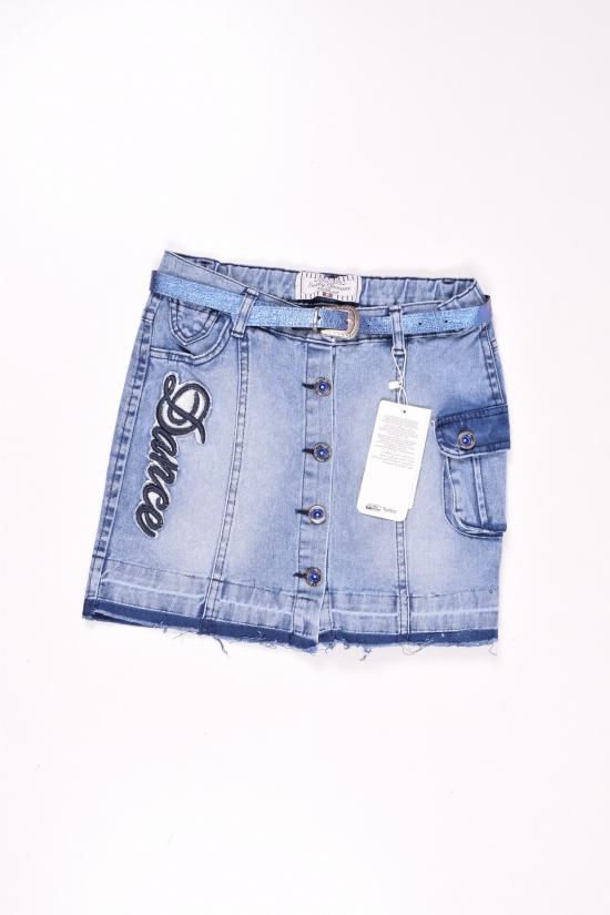 Юбка для девочки  джинсовая  SEALY Роста в наличии : 110,116,122,128 арт.294713
