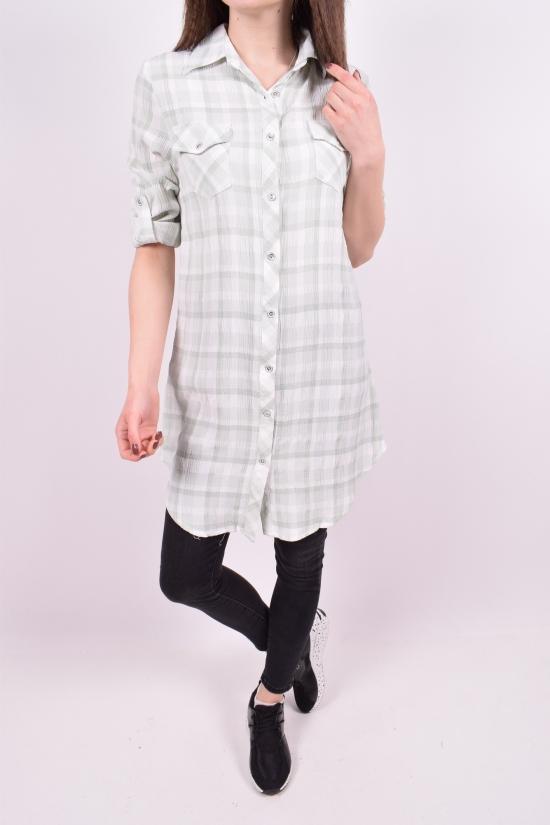 Рубашка-туника женская (цв.белый/мята) Madoy Размеры в наличии : 40,42,44,46 арт.5140
