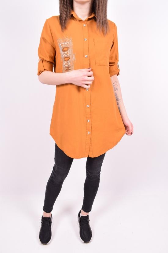 Рубашка-туника женская (цв.горчичный) Madoy Размеры в наличии : 40,42,44,46 арт.5063