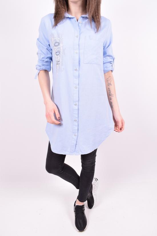 Рубашка-туника женская (цв.голубой) Madoy Размеры в наличии : 40,42,44,46 арт.5063