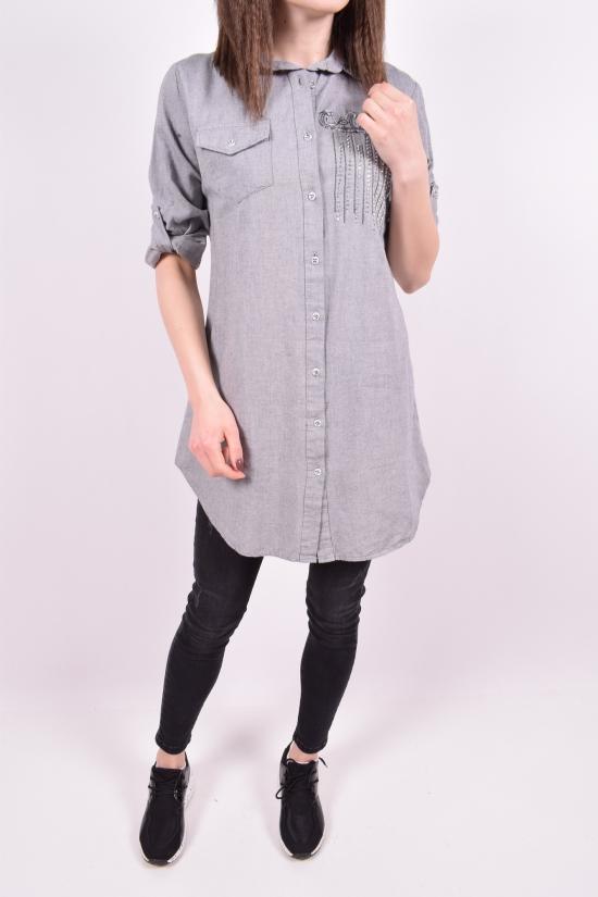 Рубашка-туника женская (цв.серый) Madoy Размеры в наличии : 40,42,44,46 арт.5073