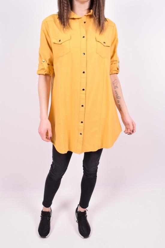 Рубашка-туника женская (цв.горчичный) Madoy Размер в наличии : 44 арт.5035