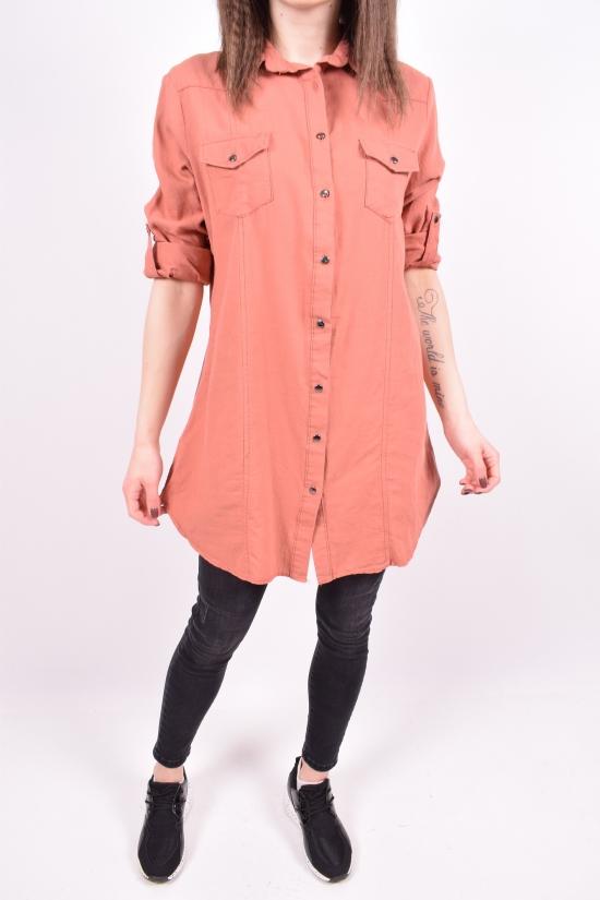 Рубашка-туника женская (цв.терракотовый) Madoy Размер в наличии : 44 арт.5035