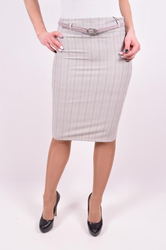 Юбка женская с поясом (цв.св.серый) Saffet Размеры в наличии : 44,46,48,50 арт.183