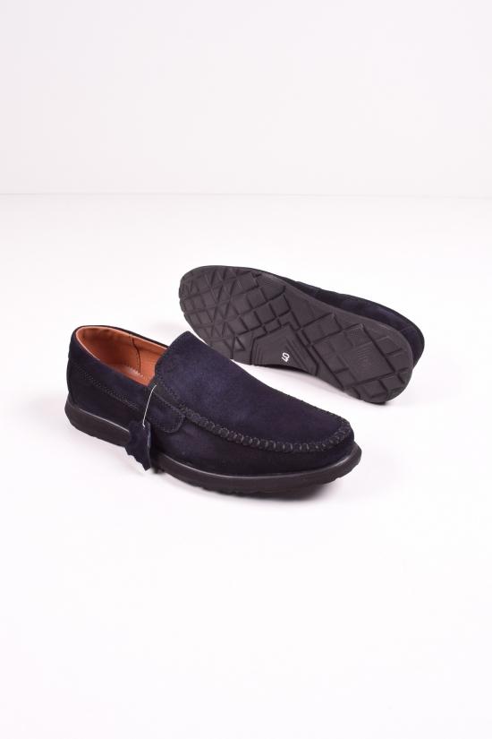 Мокасины мужские из натуральной замши (цв.черный) DAN shoes Размеры в наличии : 40,41,42,43,44,45 арт.17A001-4т.син/кл10