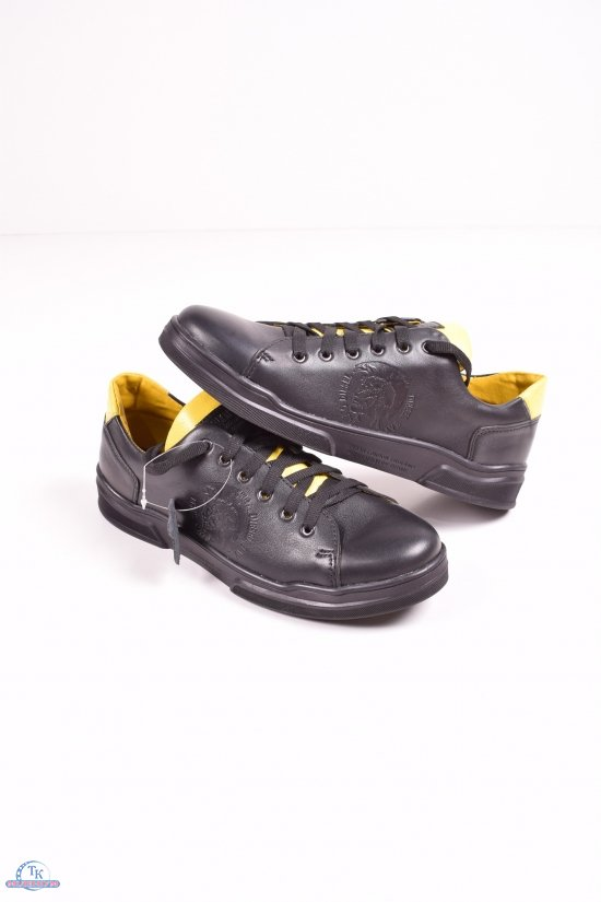 Кроссовки мужские(цв.черный) из натуральной кожи DAN shoes Размеры в наличии : 41,43,44,45 арт.55Es170-6/кл23-кл34