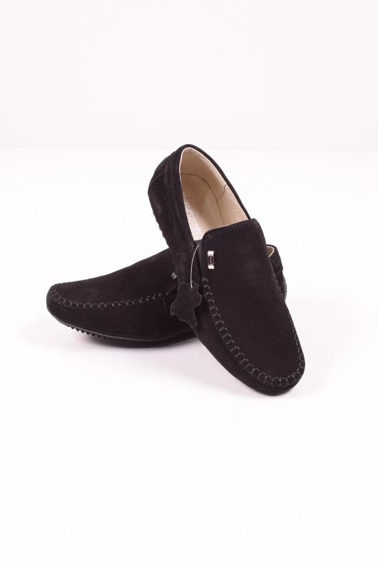 Мокасины для мальчика из натуральной замши (цв.черный) DAN Shoes Размеры в наличии : 36, 37 арт.S003-4/173