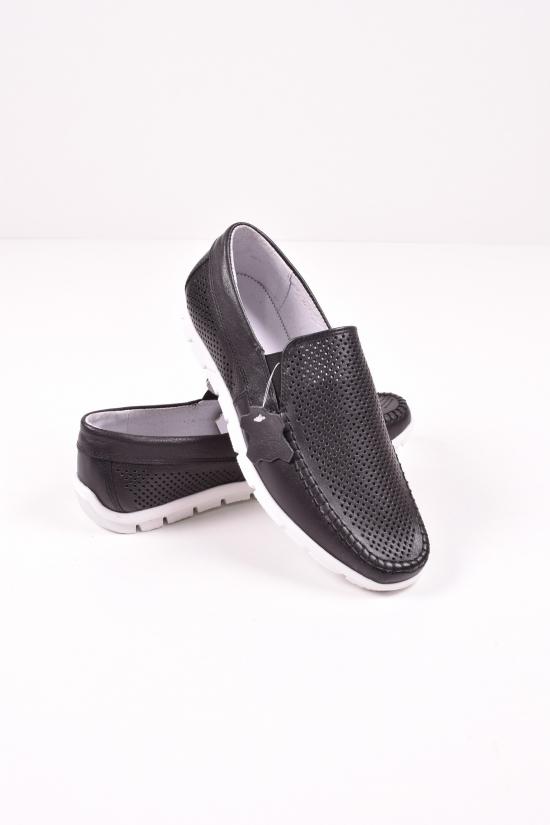 Мокасины мужские из натуральной кожи с перфорацией  DAN shoes Размеры в наличии : 40,42,43 арт.15S003-11/д,70