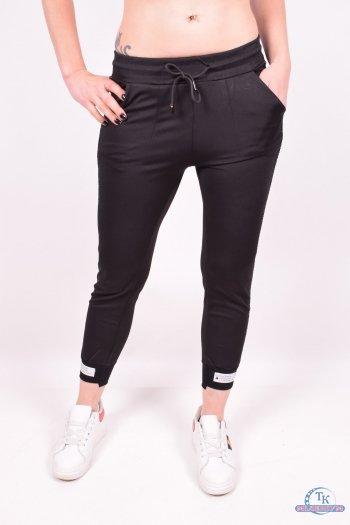 Брюки спортивные (цв.черный) женские CLOVER (Cotton 100%) Размеры в наличии : 40,42,44,46,48 арт.GD8875