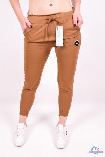 Брюки спортивные (цв.коричневый) женские CLOVER (Polyester 95%,Spandex 5%) Размеры в наличии : 40,42,44,46,48 арт.GD8877