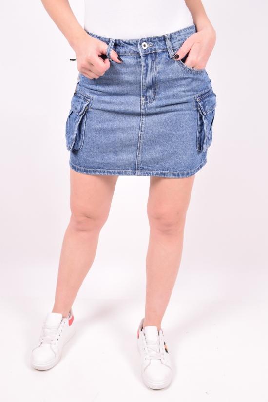 Юбка женская джинсовая Saint Wish (Cotton 100%) Размеры в наличии : 25,26,27,28,29,30 арт.S9076