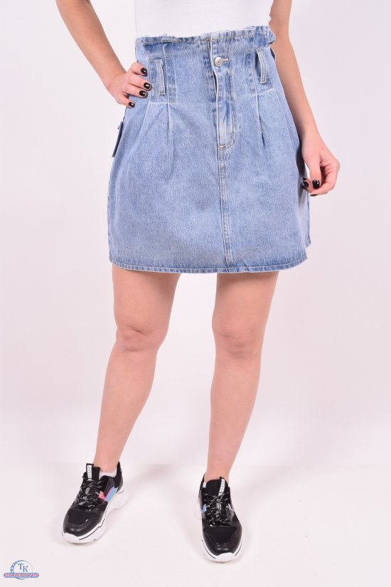 Юбка женская джинсовая Saint Wish (Cotton 100%) Размеры в наличии : 25,26,27,28,29,30 арт.S9093