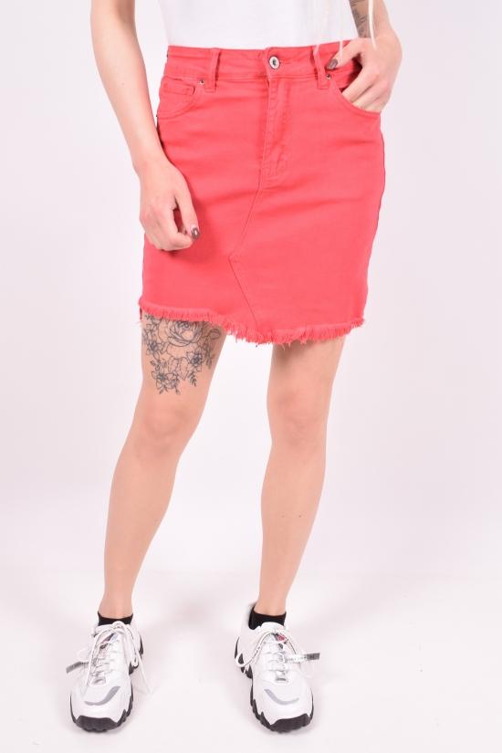 Юбка женская джинсовая Saint Wish (Cotton 98%,Elastane 2%) Размеры в наличии : 40, 42, 44 арт.S9062-9