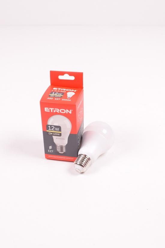Лампа светодиодная Light Power  (12W, цоколь E27, A60, 3000К) ETRON арт.1-ELP-005