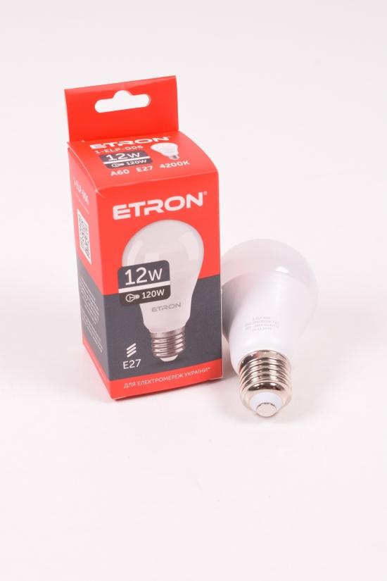 Лампа светодиодная Light Power  (12W, цоколь E27, A60, 4200К) ETRON арт.1-ELP-006