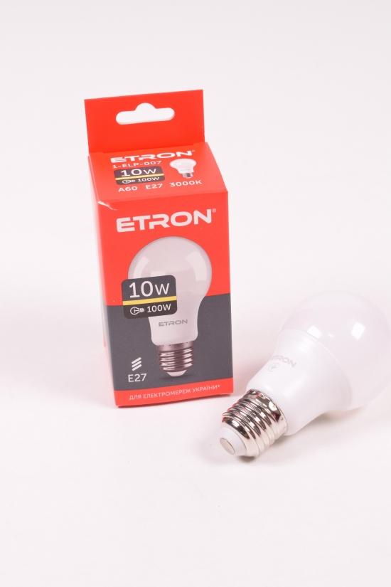 Лампа светодиодная Light Power  (10W, цоколь E27, A60, 3000К) ETRON арт.1-ELP-007