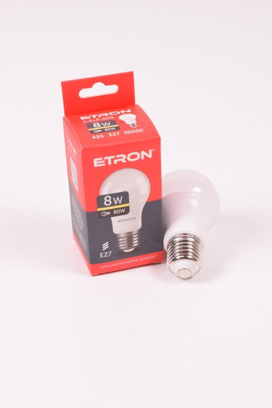Лампа светодиодная Light Power  (8W, цоколь E27, A55, 3000К) ETRON арт.1-ELP-009