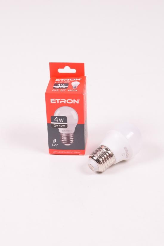 Лампа светодиодная Light Power  (4W, цоколь E27, G45,220V, 4200К) ETRON арт.1-ELP-050