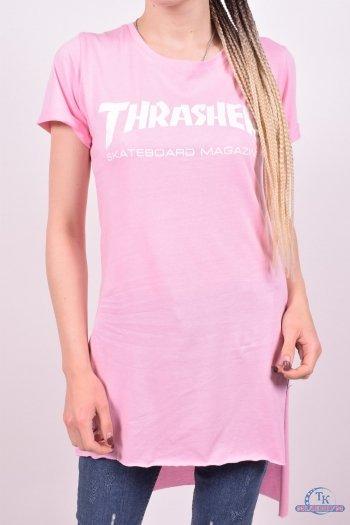 Туника женская трикотажная (цв.розовый)  размер 42-44 арт.277
