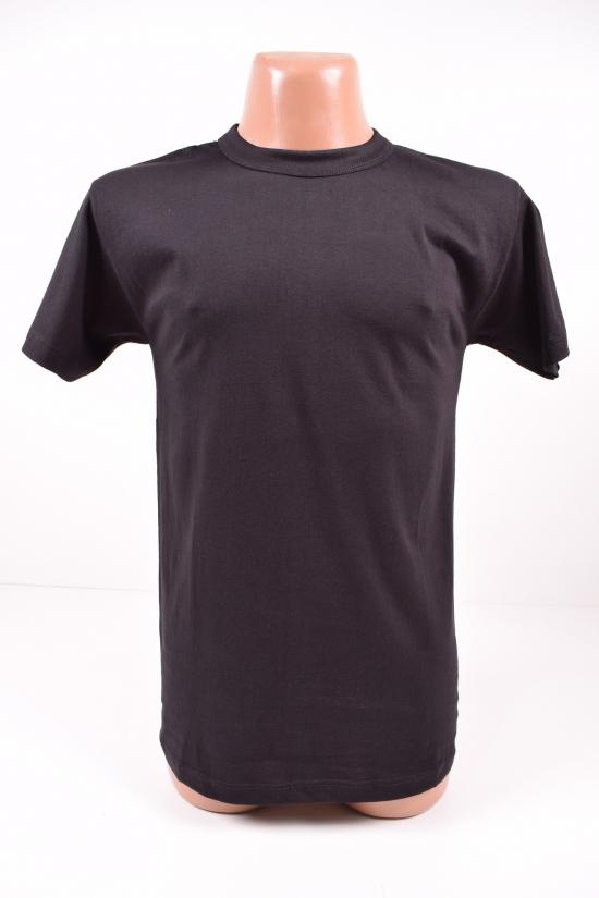 Футболка мужская чёрная (х/б 100%) №60 размер 48-50 арт.560