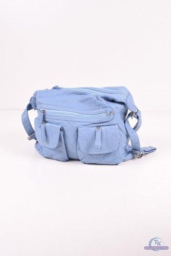 Сумка-рюкзак женская (цв.голубой) размер 37/27/12см. арт.S1661