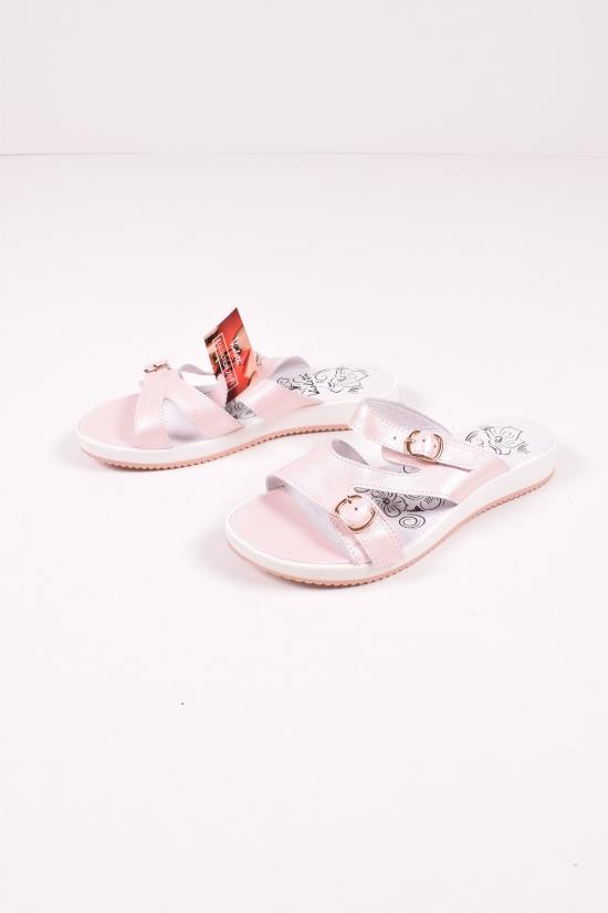 Шлепанцы женские (цв.пудра) из натуральной кожи Violetti Размеры в наличии : 37,38,40,41 арт.255