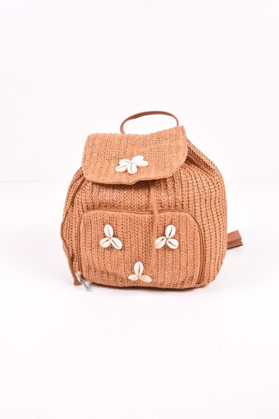 Рюкзак пляжный  (цв.коричневый) размер 36/30/9см арт.YW-MS-6001
