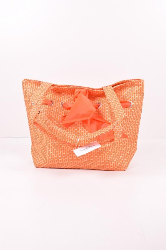 Сумка пляжная (цв.оранжевый)  размер 51/36см арт.YW-ZT-5034