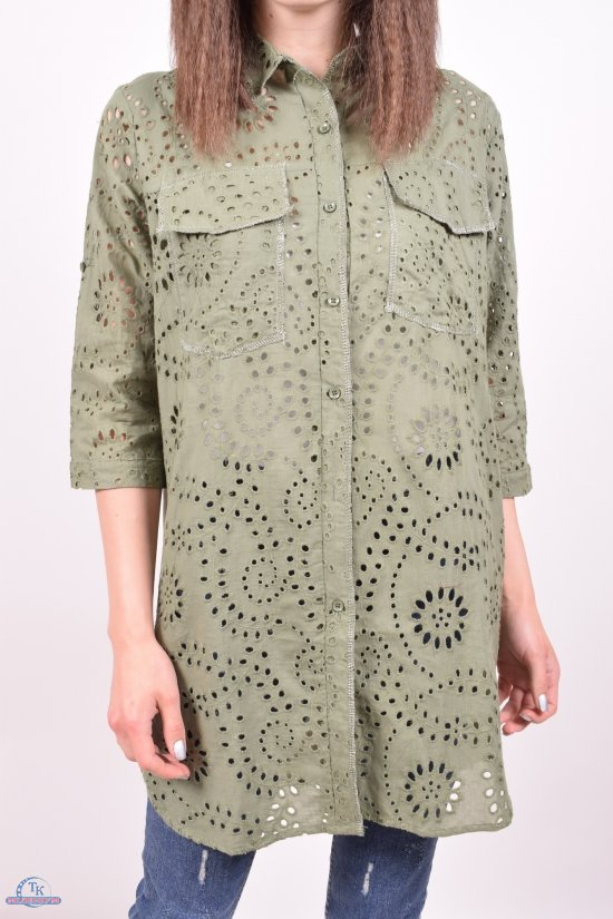 Рубашка-туника женская (цв.хаки) Saint Wish Размеры в наличии : 40,42,44,46,48 арт.2264