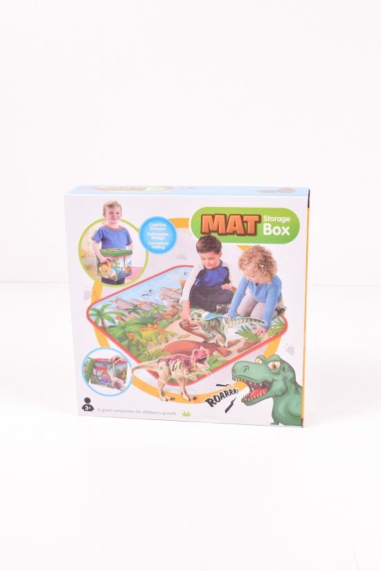 Корзина-сундук для игрушек 3в1 (коврик, стульчик, корзина) размер в коробке 29/29/8см. арт.RC118