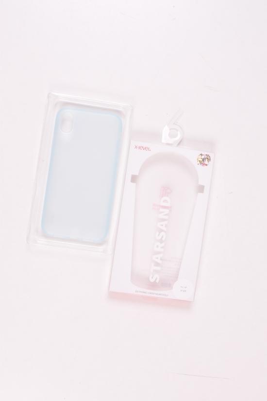 Прозрачный силиконовый чехол IPHONE XR  (цв.голубой) арт.IPXR