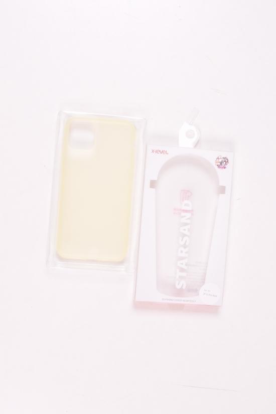 Прозрачный силиконовый чехол IPHONE 11 PRO MAX (цв.желтый) арт.IP11PROMAX