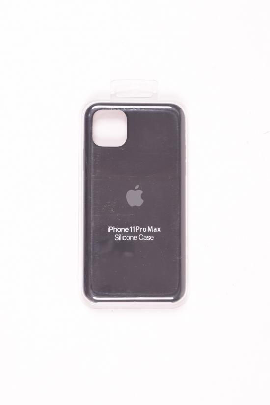 Силиконовый чехол iPhone 11 Pro Max (внутренняя отделка - микрофибра) Black-1 арт.iPhone 11 Pro Max