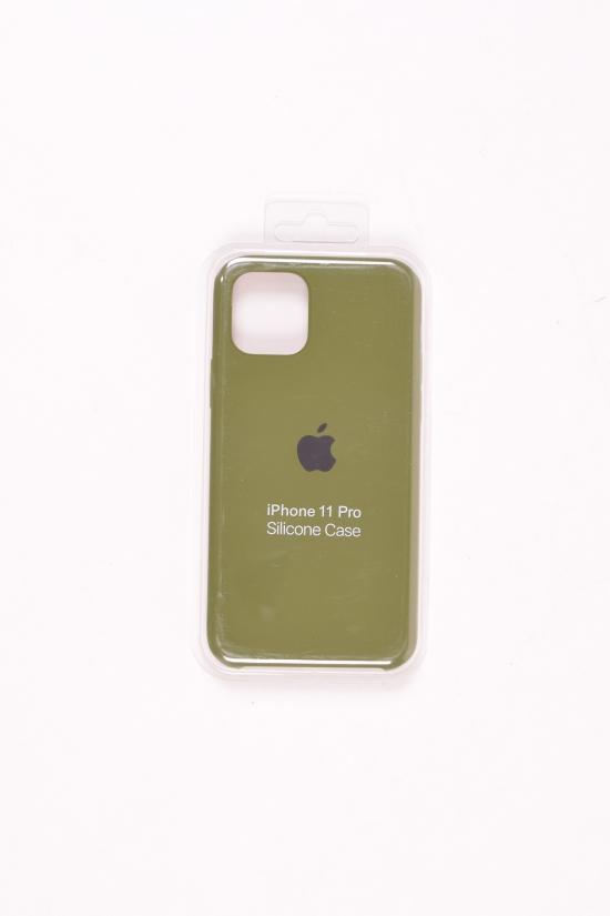 Силиконовый чехол iPhone 11 Pro (внутренняя отделка - микрофибра) Khaki-8 арт.iPhone 11 Pro