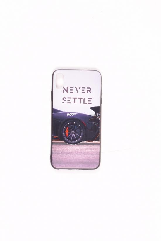 Силиконовый чехол принт матовый iPhone XS Max (Never Settle) арт.iPhone XS Max