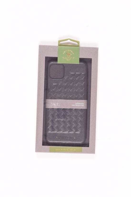 Чехол-накладка (кожаный) iPhone 11 Pro Max POLO PAVEL (Black) арт.iPhone 11 Pro Max