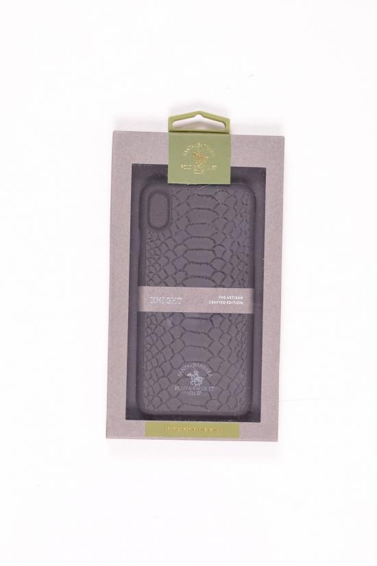 Чехол-накладка (кожаный) iPhone XS POLO KNIGHT (Black) арт.iPhone XS