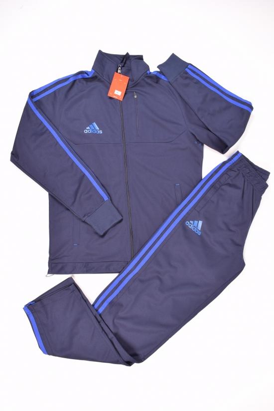 Костюм спортивный (цв.т.синий/синий) для мальчика (юниор)  трикотажный Nike Размеры в наличии : 44,46,48,50 арт.909