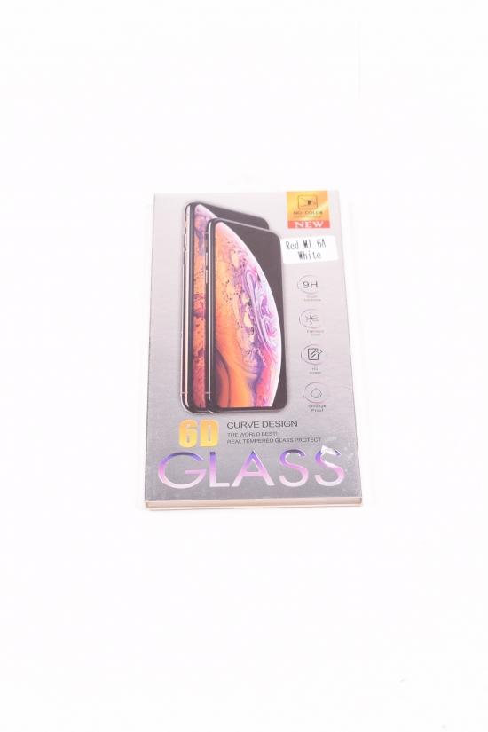 Защитное стекло для RED MI 6A (6D) WHITE арт.REDMI6A