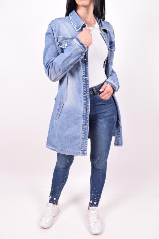 """Пиджак женский джинсовый   """"ZJY"""" Размеры в наличии : 48,50,54 арт.FX8870"""