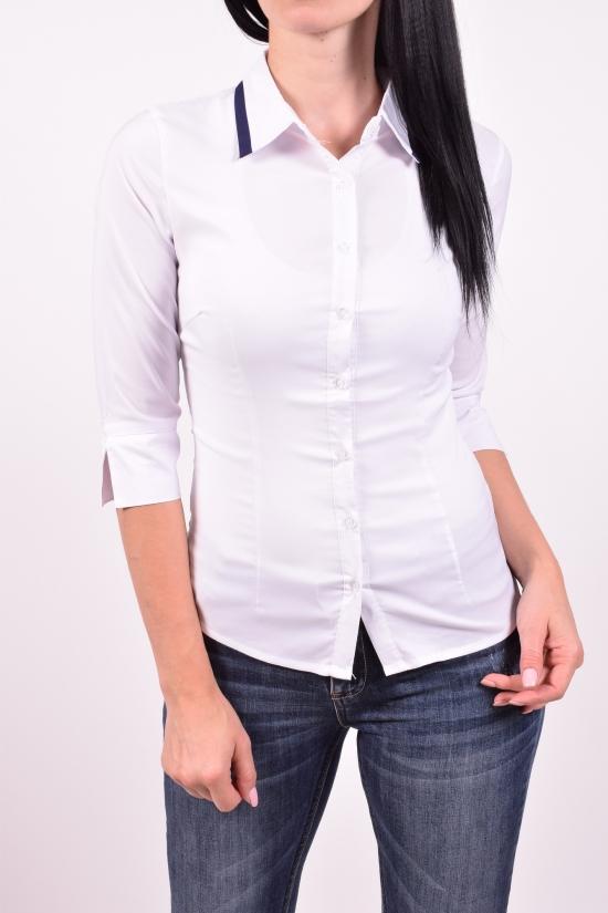 Рубашка женская стрейчевая (цв.белый) BASE Размеры в наличии : 40,42,44,46,48 арт.B6102-3