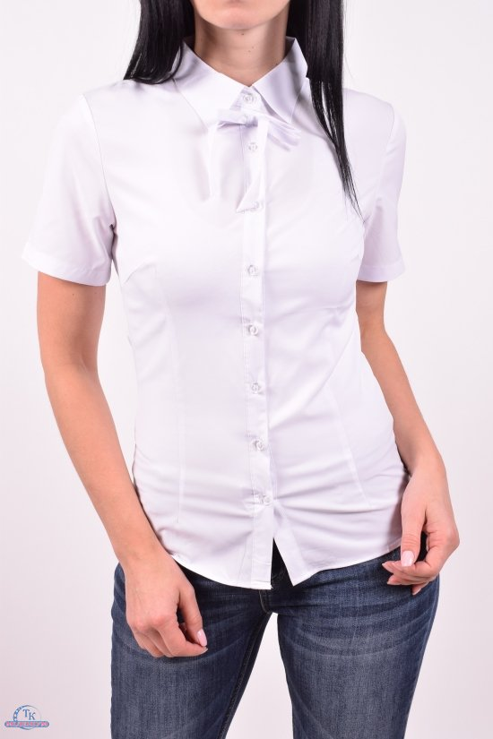 Блузка женская стрейчевая (цв.белый) C.&ot Размеры в наличии : 42,46,48,50 арт.A1587